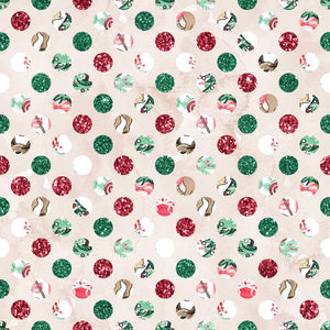 PRE ORDER Christmas Forest Dots Fabric