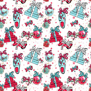 PRE ORDER Doggy Christmas Ornaments Fabric