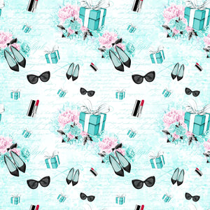 PRE ORDER - Tiffany's Presents Blue Fabric