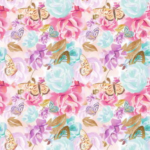 PRE ORDER Butterflies in Roses Fabric