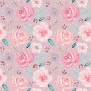 PRE ORDER Baby Animals Pink Floral Fabric