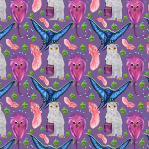 PRE ORDER - Fantastic Beasts in Pink - Digital Fabric Print