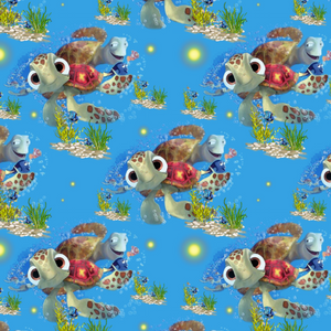 PRE ORDER - Finding Nemo Turtles - Digital Fabric Print