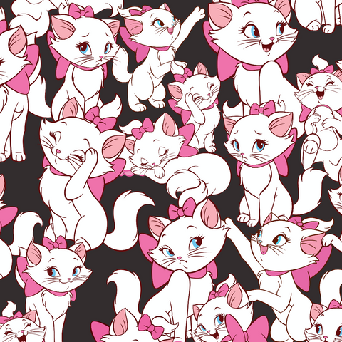IN STOCK - Aristocats Marie Black - WOVEN COTTON