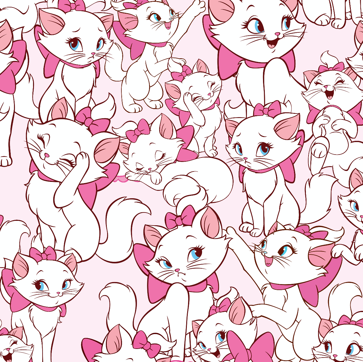 PRE ORDER - Aristocats Marie Pink - Digital Fabric Print