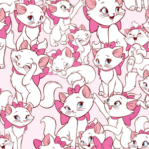 IN STOCK - Aristocats Marie Pink - WOVEN COTTON