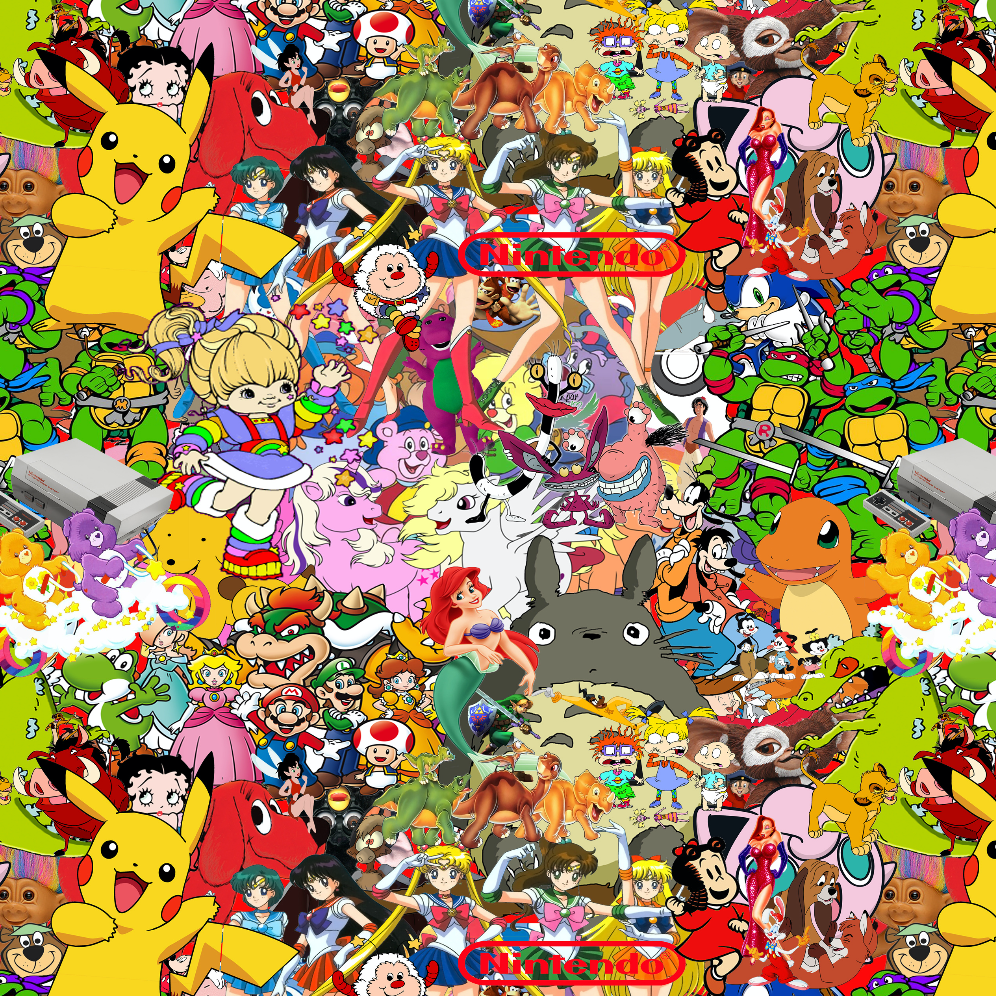 PRE ORDER - Cartoon Mashup - Digital Fabric Print