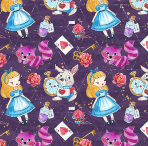 PRE ORDER - Down the Rabbit Hole Purple - Digital Fabric Print
