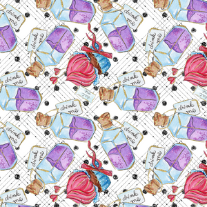 PRE ORDER - Down the Rabbit Hole Drink Me - Digital Fabric Print