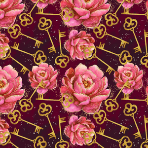 PRE ORDER - Down The Rabbit Hole Roses - Digital Fabric Print