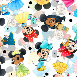 PRE ORDER - Princess Minnie White - Digital Fabric Print