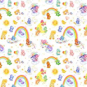 PRE ORDER - Carebears Small - Digital Fabric Print