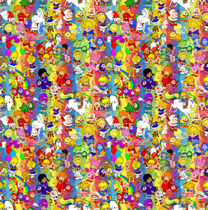 IN STOCK - Rainbow Brite Scattered - WOVEN COTTON