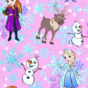 PRE ORDER - Snow Queen Pink Snowflakes - Fabric