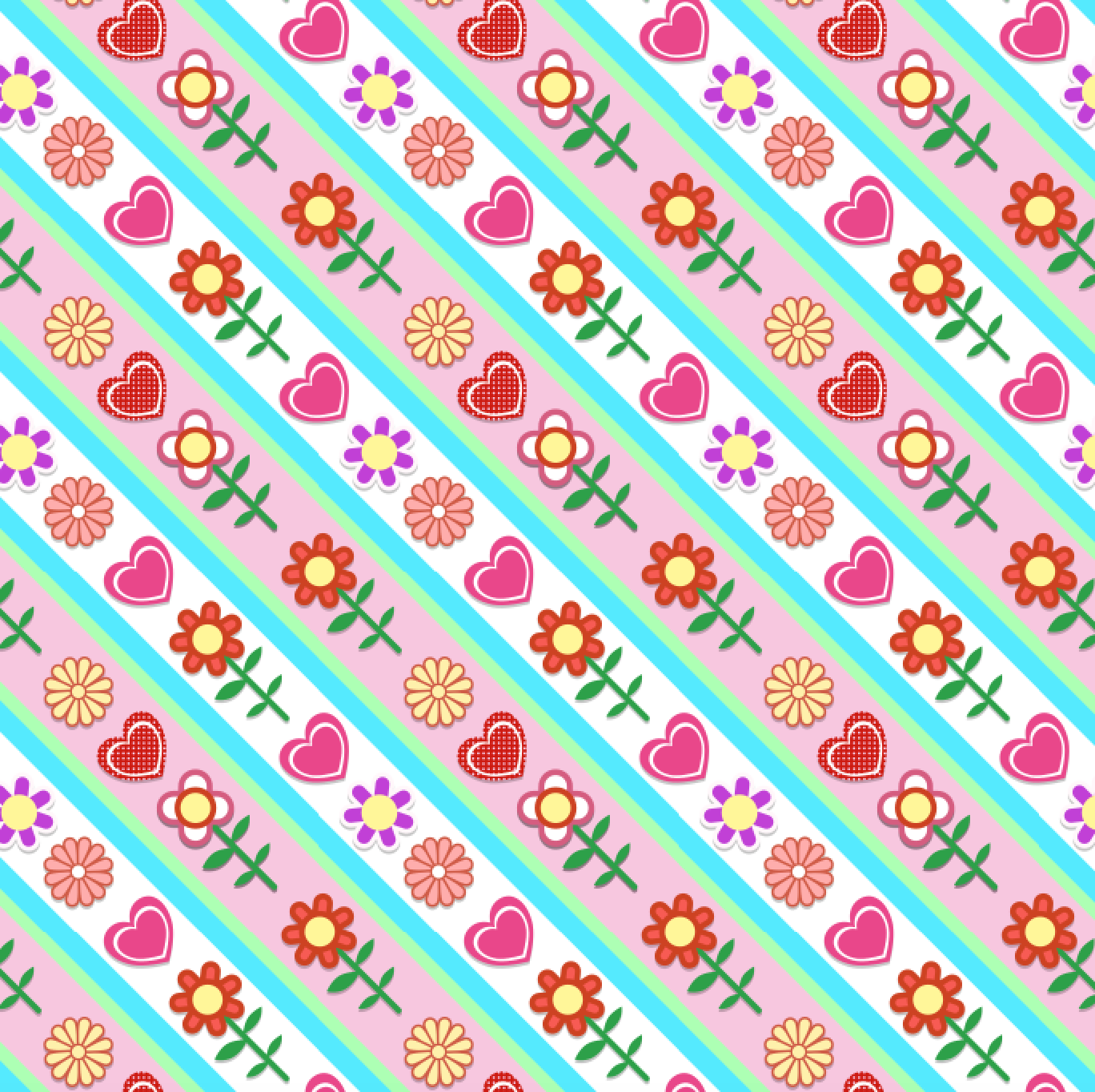 PRE ORDER - Peppa Floral - Digital Fabric Print