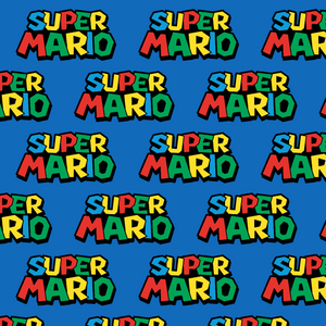 PRE ORDER - Super Mario Logo - Digital Fabric Print