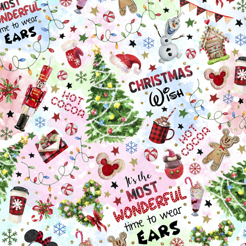PRE ORDER - Wonderful Christmas Colour - Digital Fabric Print