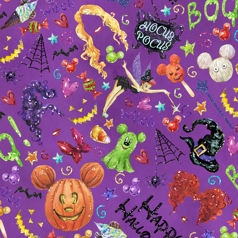 PRE ORDER - Hocus Pocus Purple - Digital Fabric Print