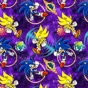 PRE ORDER - Sonic Purple - Digital Fabric Print