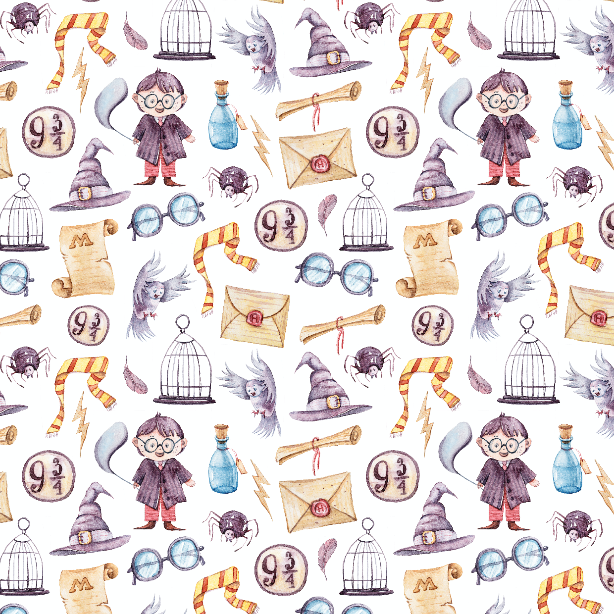 PRE ORDER - Wizard Land White - Digital Fabric Print