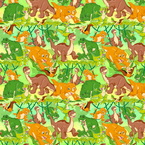 PRE ORDER - Little Foot Dinosaurs - Digital Fabric Print