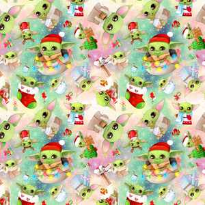 PRE ORDER - Christmas Yoda Small - Digital Fabric Print
