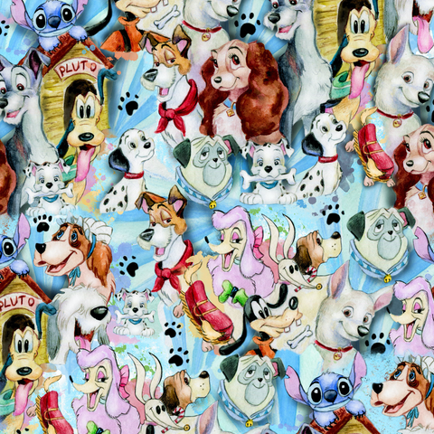 PRE ORDER - Famous Puppies - Digital Fabric Print