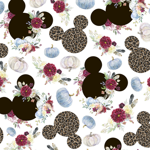 PRE ORDER - Minnie in Leopard Print - Digital Fabric Print