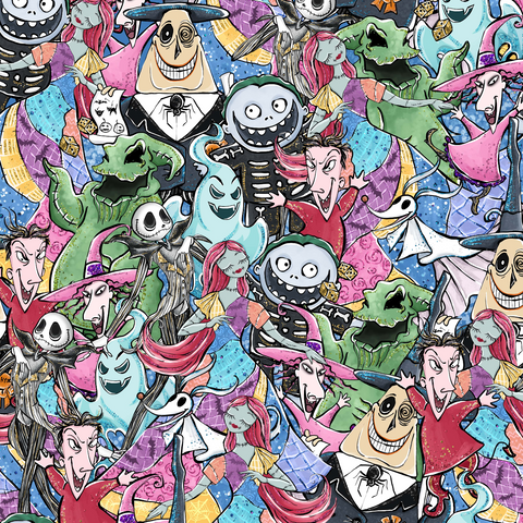 PRE ORDER - Spooky Halloween Scattered - Digital Fabric Print