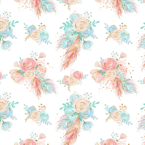 PRE ORDER - Woodland Babes Pink Floral - Fabric