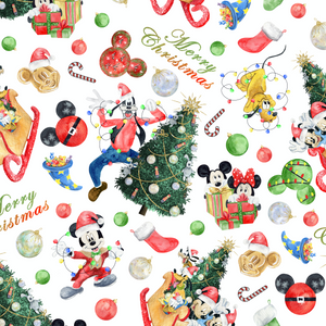 PRE ORDER - Magic Christmas White - Digital Fabric Print