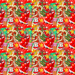 IN STOCK - Red Christmas Princesses - WOVEN COTTON