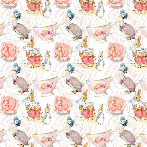 IN STOCK - Beatrix Potter Roses - WOVEN COTTON