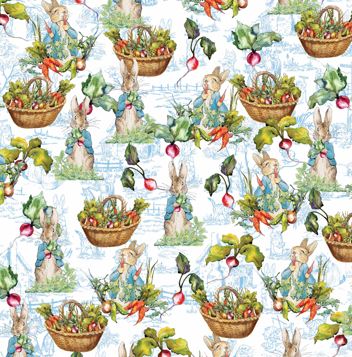 PRE ORDER - Beatrix Potter Peter Rabbit - Digital Fabric Print