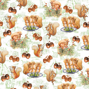 PRE ORDER - Beatrix Potter Squirrel - Digital Fabric Print