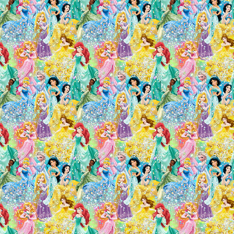 PRE ORDER - Sparkling Princesses Small - Digital Fabric Print