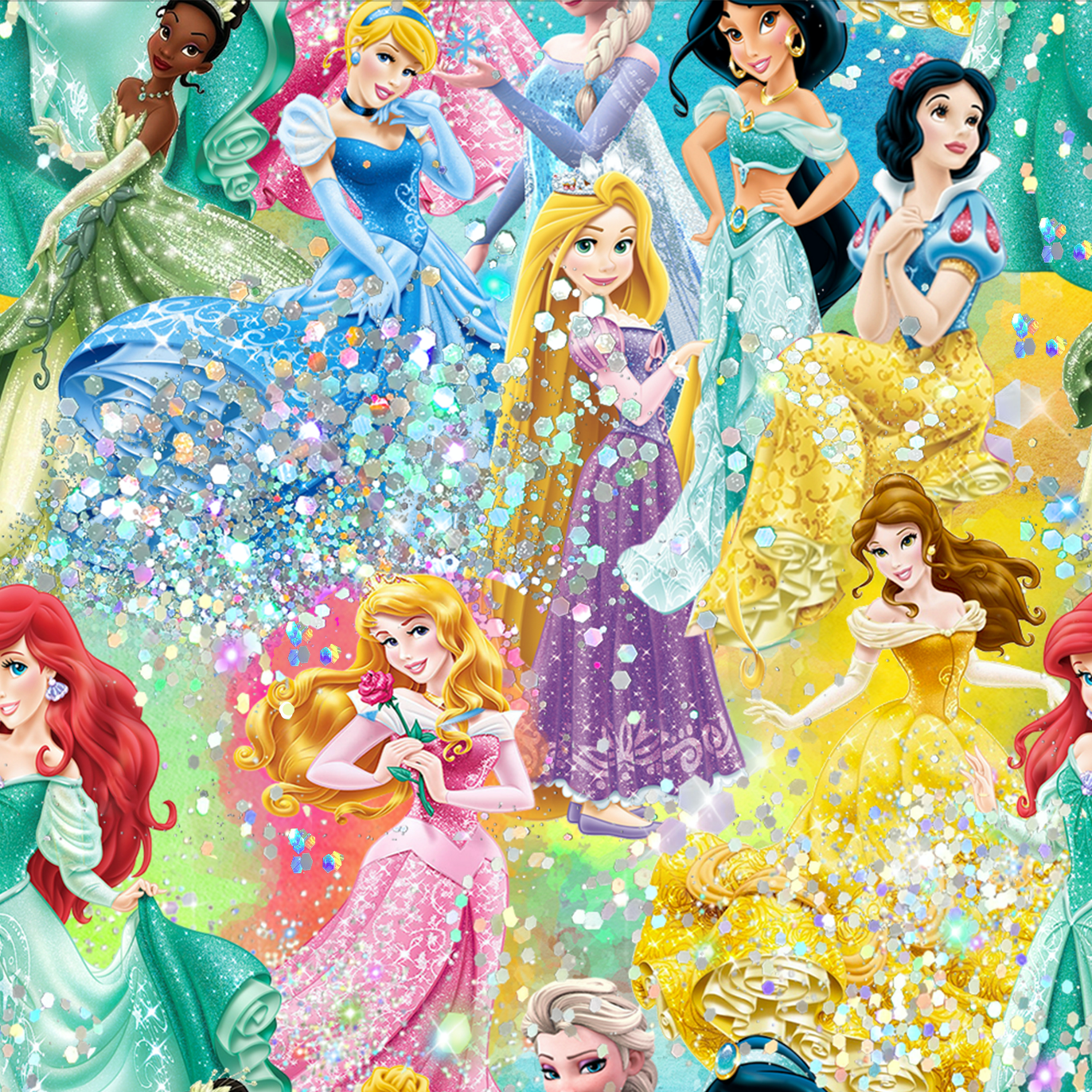 PRE ORDER - Sparkling Princesses Large - Digital Fabric Print