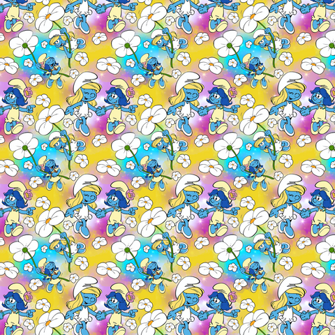 PRE ORDER - Smurfs Yellow - Digital Fabric Print