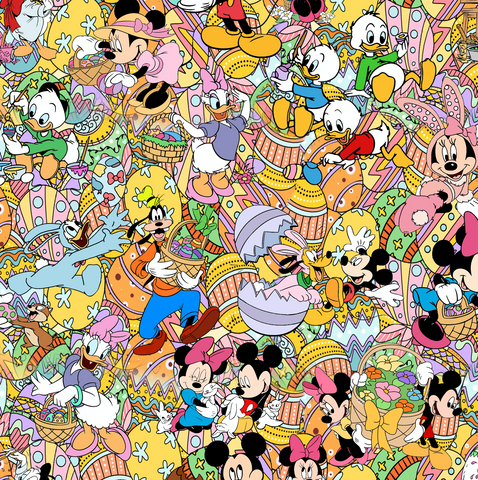 PRE ORDER - Mickey Easter Mashup - Digital Fabric Print
