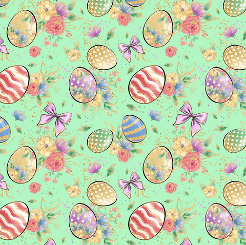PRE ORDER - Bunny Fun Green - Digital Fabric Print