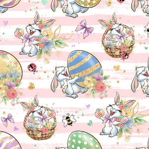 PRE ORDER - Bunny Fun Pink - Digital Fabric Print