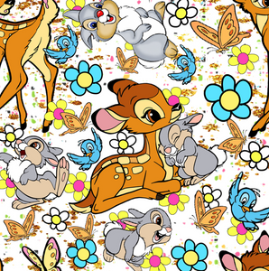 PRE ORDER - Bambi in Bloom White - Fabric