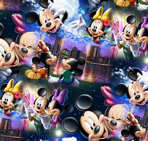 PRE ORDER - Minnie & Mickey in the City - Fabric