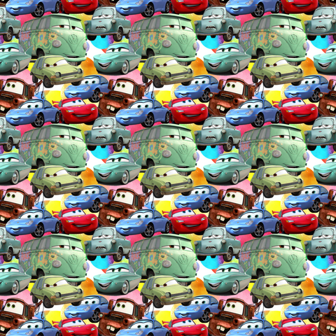 PRE ORDER - Cars Movie - Fabric Print