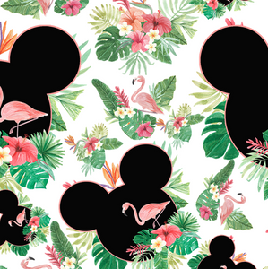 PRE ORDER - Flamingo Minnie Ears- Digital Fabric Print