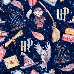 PRE ORDER - Harry Potter Navy Glitter - Digital Fabric Print