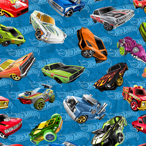 PRE ORDER - Hot Wheels - Digital Fabric Print