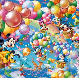 PRE ORDER - Mickey Balloons - Digital Fabric Print