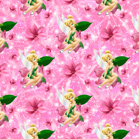 PRE ORDER - Tinker Bell Pink - Digital Fabric Print