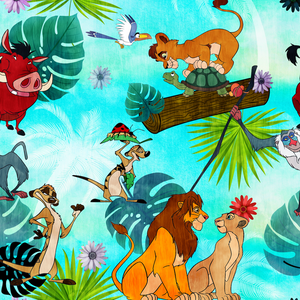 PRE ORDER - Lion King Treetops - Digital Fabric Print